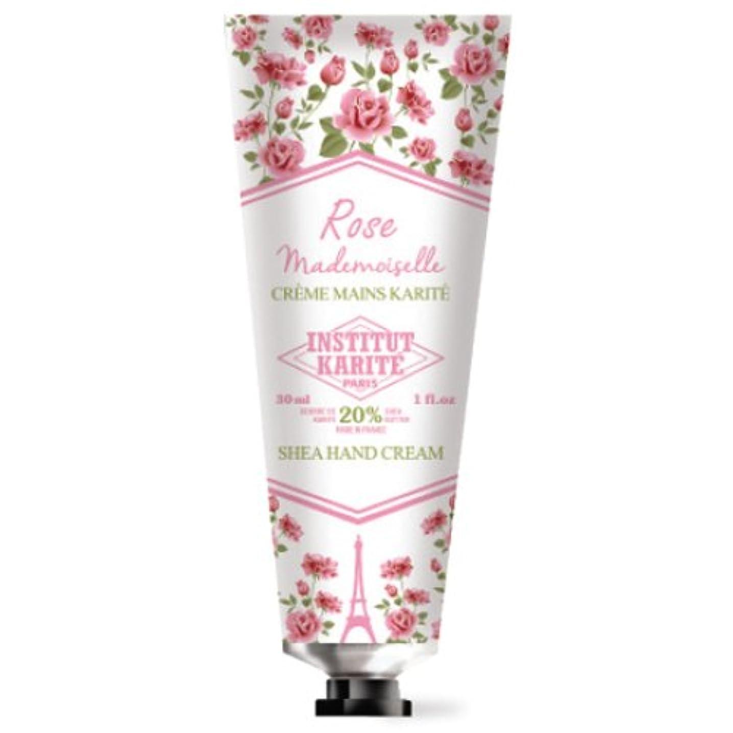喜びサワーサドルINSTITUT KARITE カリテ Rose Mademoiselle クラシックローズ ハンドクリーム 30ml