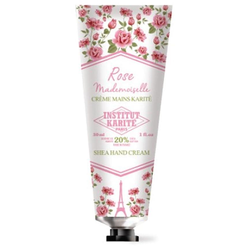 可動式ミニチュア素晴らしいINSTITUT KARITE カリテ Rose Mademoiselle クラシックローズ ハンドクリーム 30ml