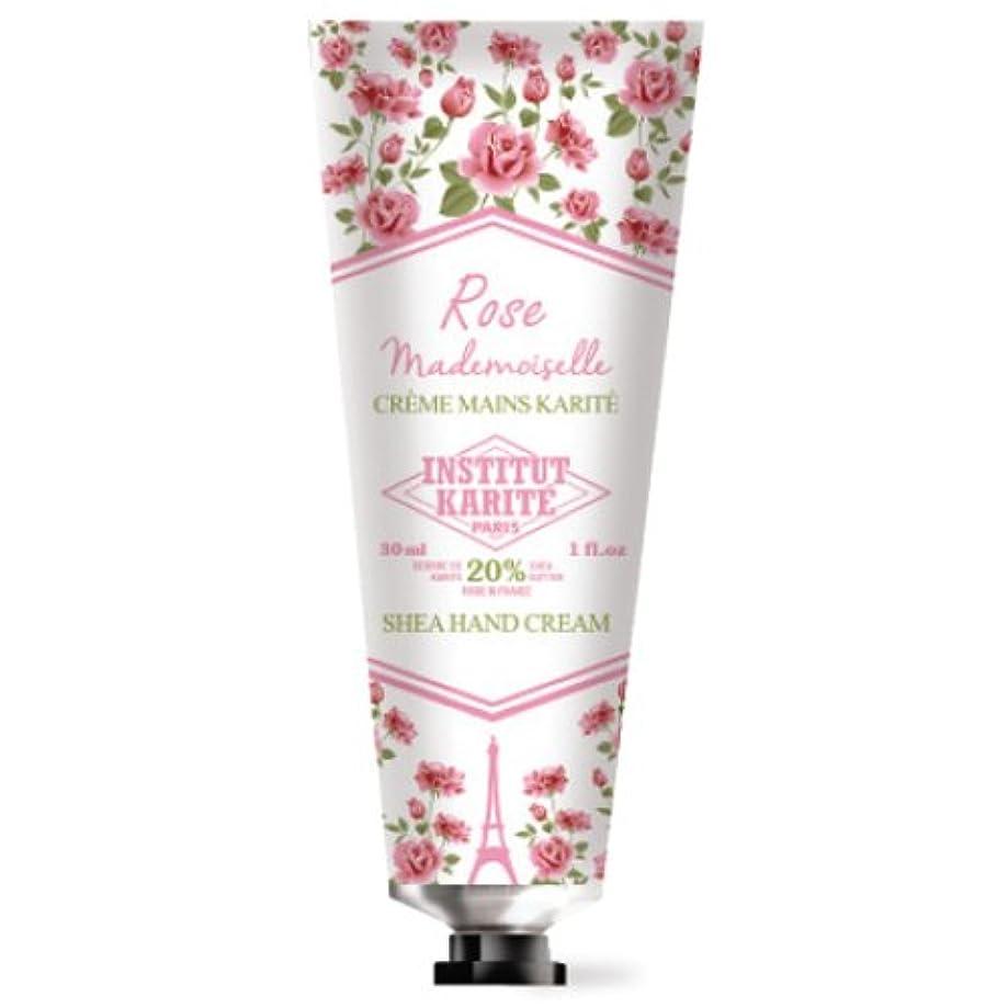 テレックス登録光沢のあるINSTITUT KARITE カリテ Rose Mademoiselle クラシックローズ ハンドクリーム 30ml