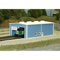 Pikestuff N Scale Two Stall Enginehouse Kit (Blue)