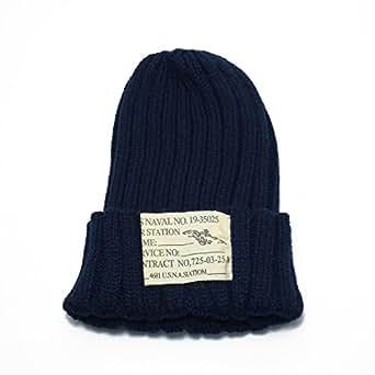 ウィベルタ ニット帽 ニットキャップ タグ付き リブ編み メンズ レディース ネイビー