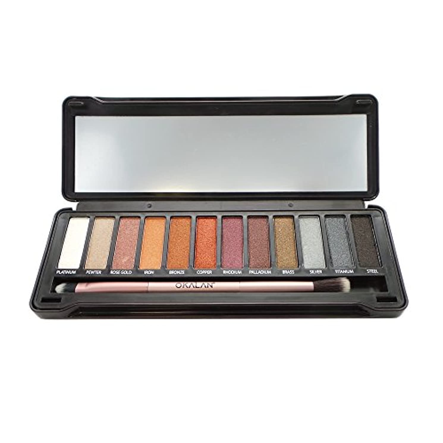 簡略化する気づく協力するOKALAN Natural Color Metal Eyeshadow (並行輸入品)