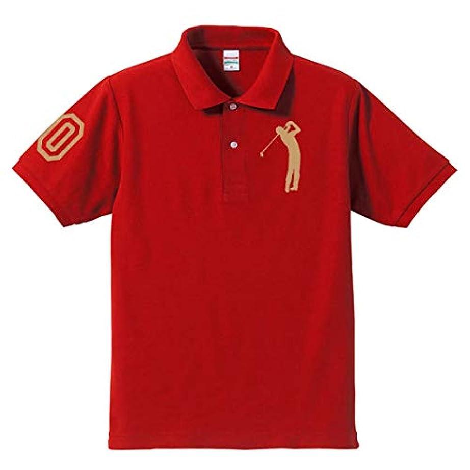 習熟度役員南西ゴルフ 60 還暦ポロシャツ レッド(ゴールド)大人用 大人用 L