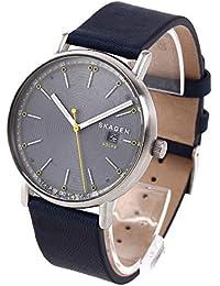 [スカーゲン]SKAGEN メンズ ソーラー シグネチャー ブルー レザー SKW6451 腕時計[並行輸入品]
