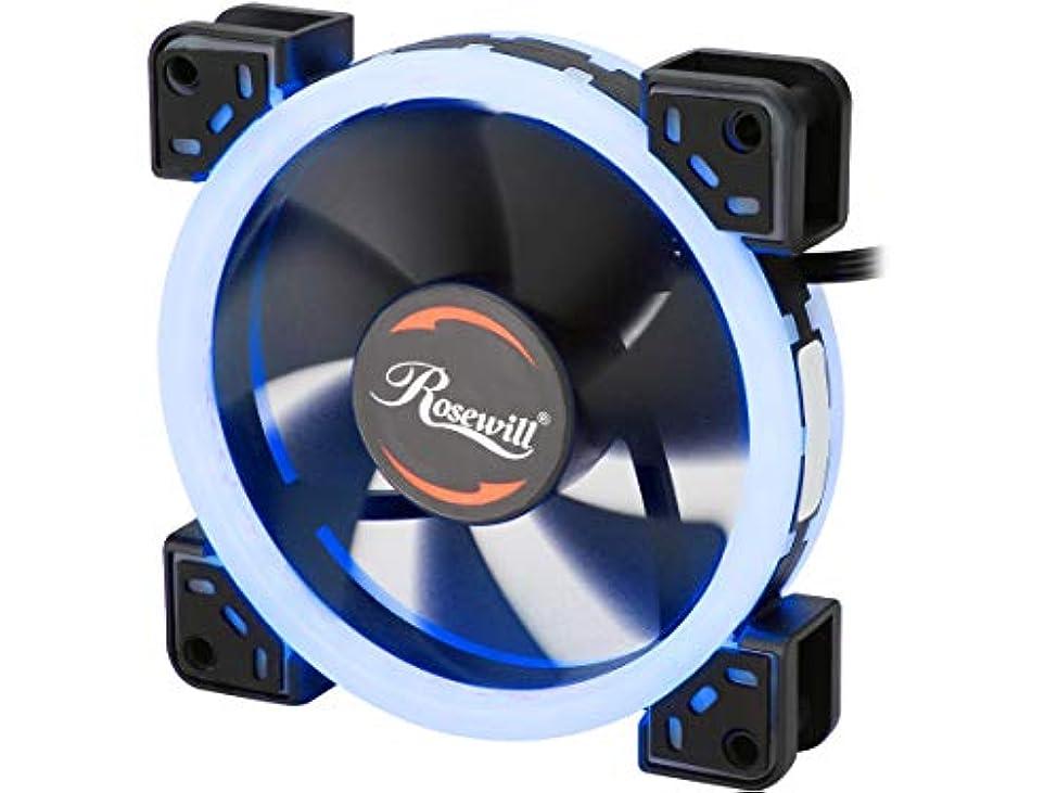 旅行線形涙Rosewill RFA-BL1201 120mm サイレントデュアルリング ブルーLED PWMファン