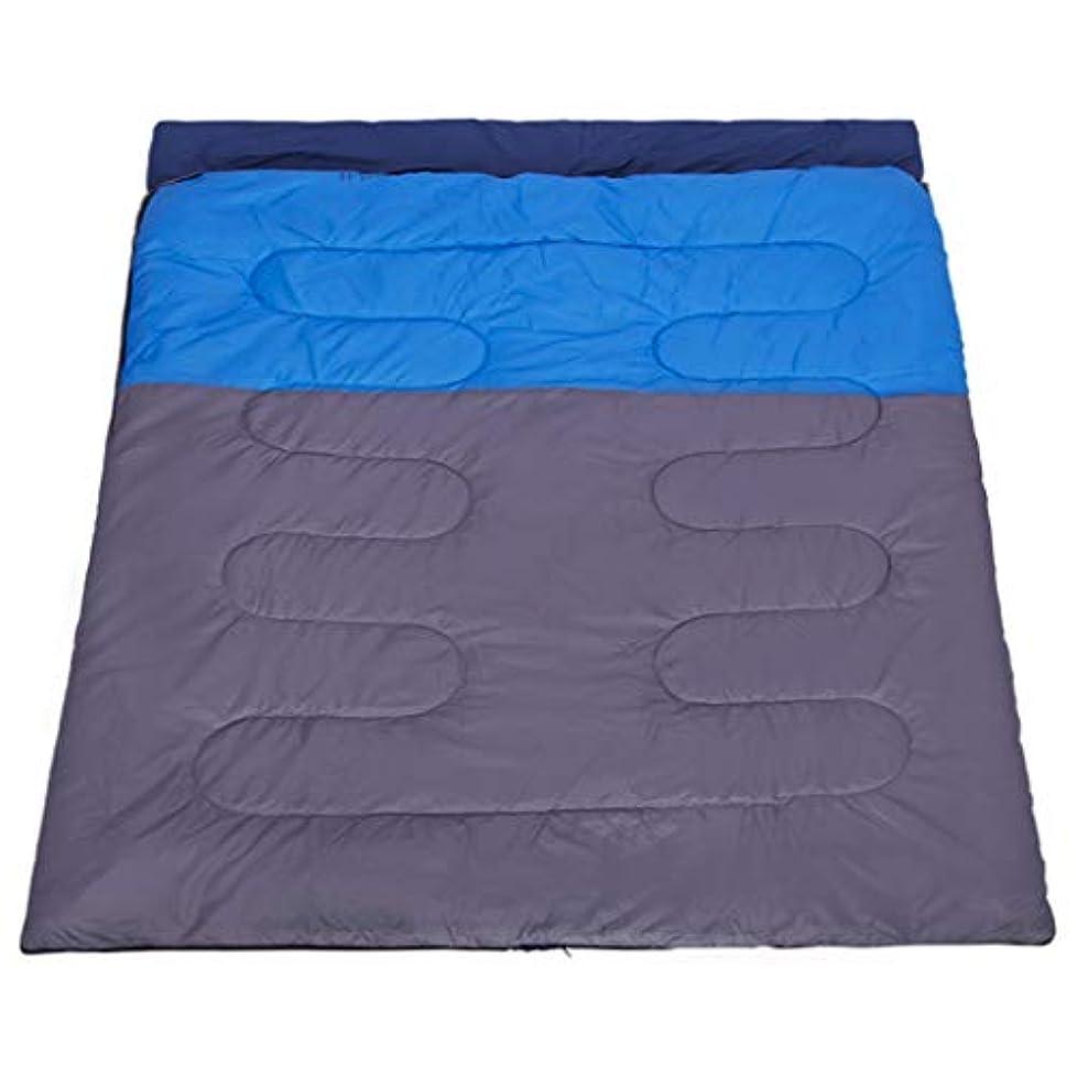 傘証人兄弟愛ダブルスリーピングバッグ 暖かい オールシーズン対応 幅広 キャンプ 大人 アウトドア 寝袋 シングルコットン 寝袋 厚手 暖かい 屋内 ポータブル アウトドア用品