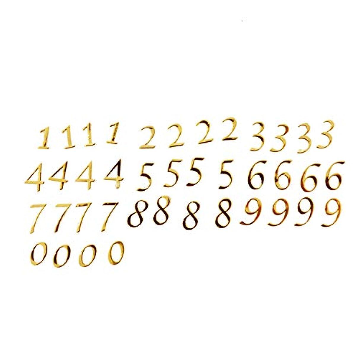 マニュアル覆す章数字のメタルパーツ0から9まで4枚ずつ、合計40枚セット
