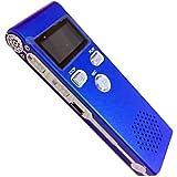 【 簡単 設定 】 軽量 ボイス レコーダー スピーカー 付き ワンタッチ MI-VOISPE (4GB, ブルー)