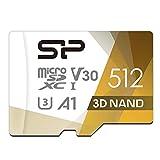 シリコンパワー microSD カード 512GB class10 UHS-1 U3 対応 最大読込100MB/s 4K対応 3D Nand 2019年モデル 【Amazon.co.jp限定】