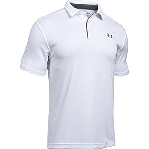 (アンダーアーマー) UNDER ARMOUR テックポロ(ゴルフ/ポロシャツ/MEN)[1290140] 100 WHITE/GRAPHITE/GRAPHITE MD