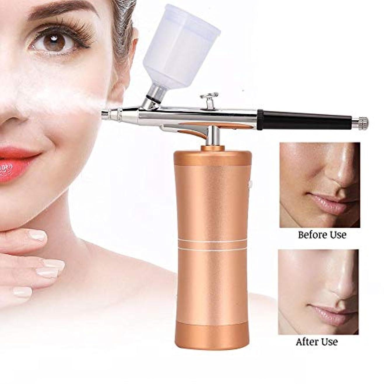 膿瘍ワーム我慢するハンドヘルド水酸素噴霧器、4種類の酸素噴霧器顔保湿噴霧器エアブラシエアコンプレッサーキットセット(03)