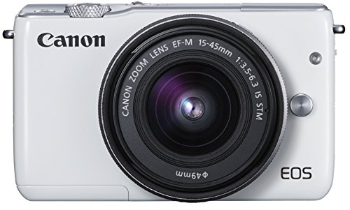 Canonミラーレス一眼カメラEOSM10レンズキット(ホワイト)EF-M15-45mmF3.5-6.3ISSTM付属EOSM10WH-1545ISSTMLK