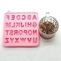 Cetengkeji シリコーンレターアイスキューブレターシリコーンアイスキューブ、アイスキューブトレイ (Color : Pink)