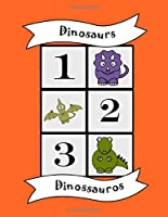 Dinosaurs: Bilingual Colouring Book, Numbers, English Portuguese learn language, fun educational activity for kids, preschool, school, multilingual children baby