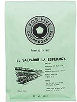For Five Coffee Roasters El Salvador La Esperanza Light Roast (Origin: Apaneca, El Salvador), 12oz (Whole Bean)
