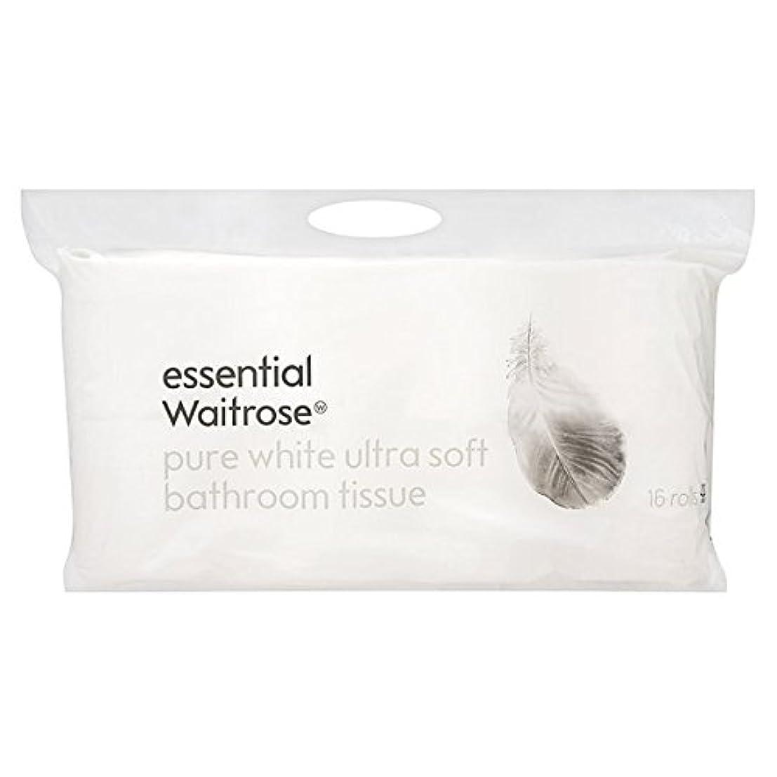 いわゆる予想するしかしながらパックあたりの超柔らかい純白の浴室組織不可欠ウェイトローズ16 x4 - Ultra Soft Pure White Bathroom Tissue essential Waitrose 16 per pack (Pack...