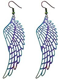 Kash Kreations Angel Wing Earrings (Multi-Color)
