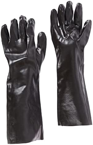 West Chester 12018 18 Chemical Resistant Gloves, Large, Black (Pack of 1 Pair) by Westchester