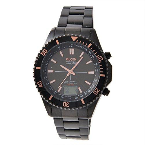 [エルジン]ELGIN 腕時計 ソーラー電波 ラウンドフェイ...