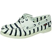 Sebago Spinnaker Stripe Womens Deck Canvas Boat Shoes