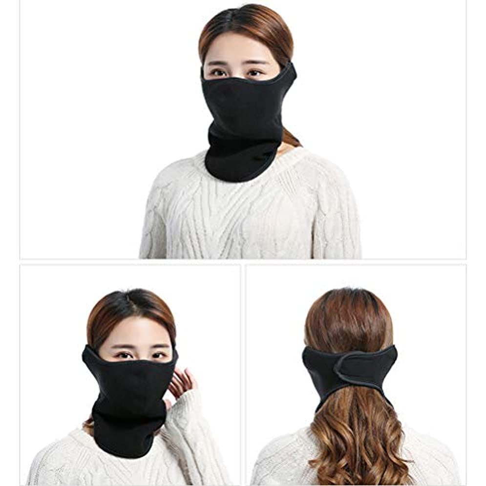 該当する彼らは内側KENANLAN 冬の暖かいマスク、ネックプロテクター乗馬マスク、屋外での乗馬、ハイキングなどのためのスリーインワン屋外コールドカラー
