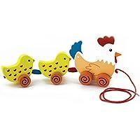 New Classic Toys - 8269 - Jouet À Tirer - Famille Poules