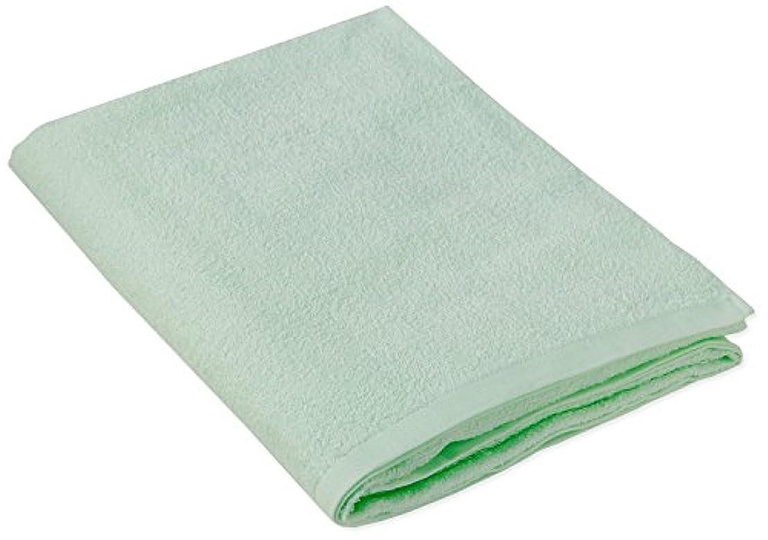 テキスト正気昨日キヨタ 抗菌介護タオル(大判タオル1枚入) グリーン 80×135cm