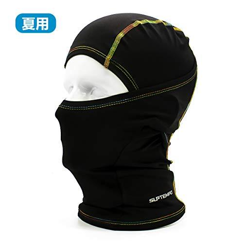フェイスマスク uvカット 目出し帽 フェイスカバー 日焼け止め 通気 速乾 フリーサイズ バイク 自転車 スポーツ用 多機能 夏用 フェイスマスク UPF50+ サラサラ触感