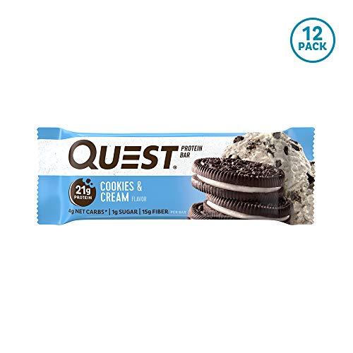 クエストニュートリション(Quest Nutrition) プロテインバー クッキー&クリーム プロテイン21g配合 60g(2.12oz) 12本入 B00I0DI0Z6 1枚目