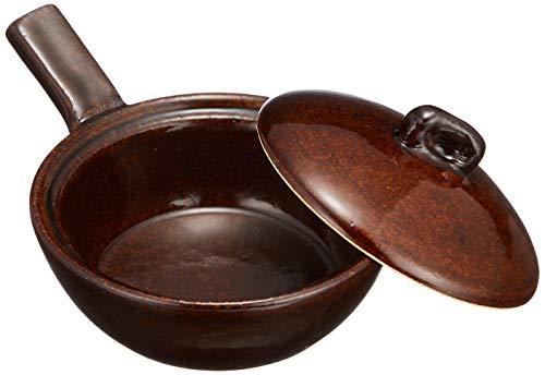 長谷製陶(Nagatani Seitou) グリルパン 茶色 130ml 長谷園 エッグベーカー 大 アメ NCK-69