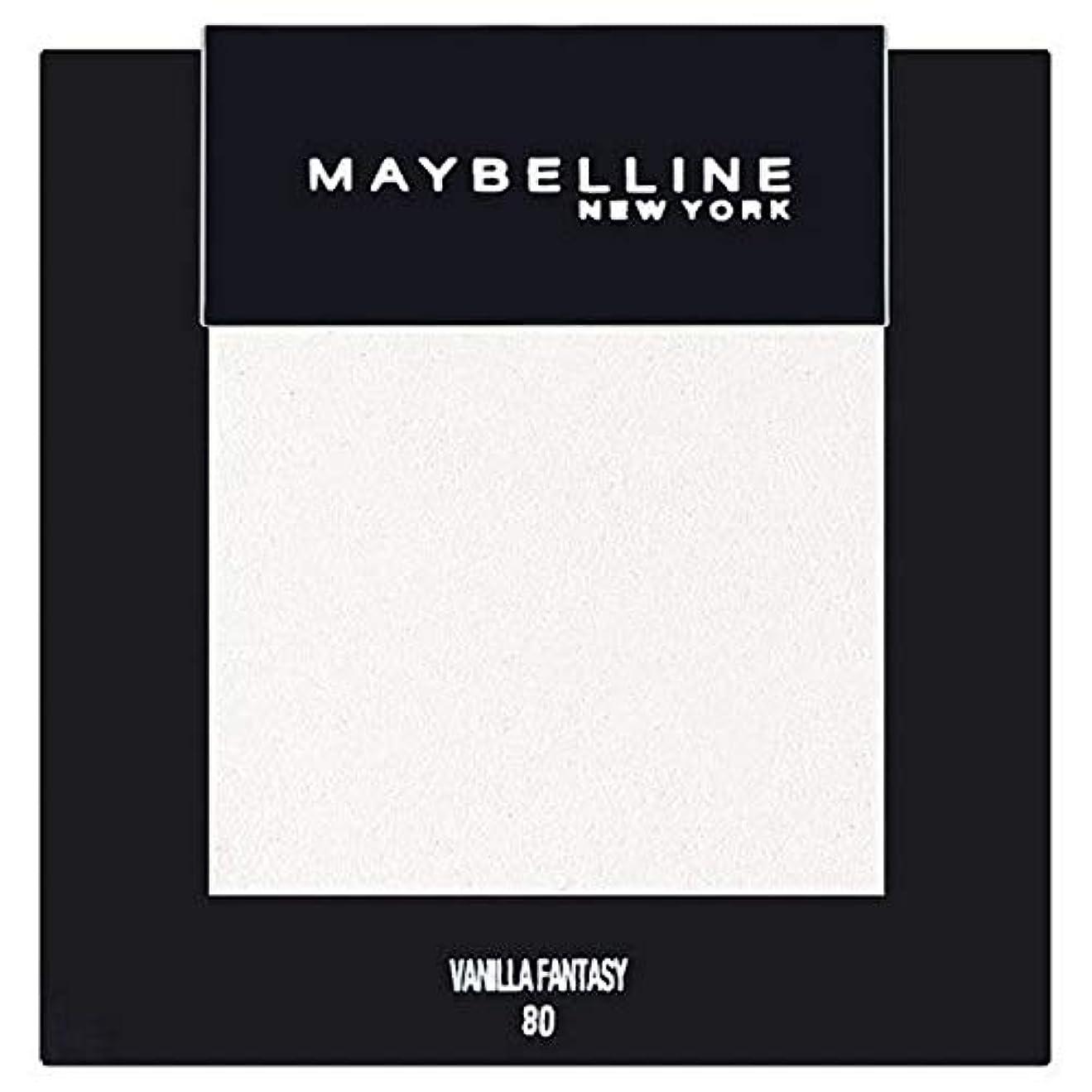 スリムとらえどころのない悪因子[Maybelline ] メイベリンカラーショーシングルアイシャドウ80バニラ - Maybelline Color Show Single Eyeshadow 80 Vanilla [並行輸入品]