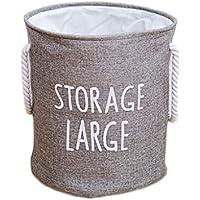 ランドリーバスケットコットンバーラップFoldable汚れたハンパーの家庭用保管バスケット (色 : Gray, サイズ さいず : 50 * 40cm)