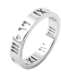 [ティファニー] TIFFANY ダイアモンド0.01ct 18KWG ホワイトゴールド アトラス リング 指輪 【並行輸入品】 34179115 日本サイズ13号 (USサイズ6.5号)