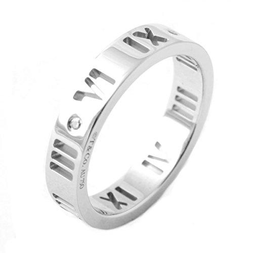 [ティファニー] TIFFANY ダイアモンド0.01ct 18KWG ホワイトゴールド アトラス リング 指輪 【並行輸入品】 34179328 日本サイズ8号 (USサイズ4.5号)