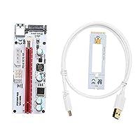 USB 3.0 NGFF M.2 PCI E 16Xグラフィックス・カード・エクステンダー・ケーブルワイヤ・コード・ライザー・ボード・パネル・アダプター・アダプター8 GPUマイナー