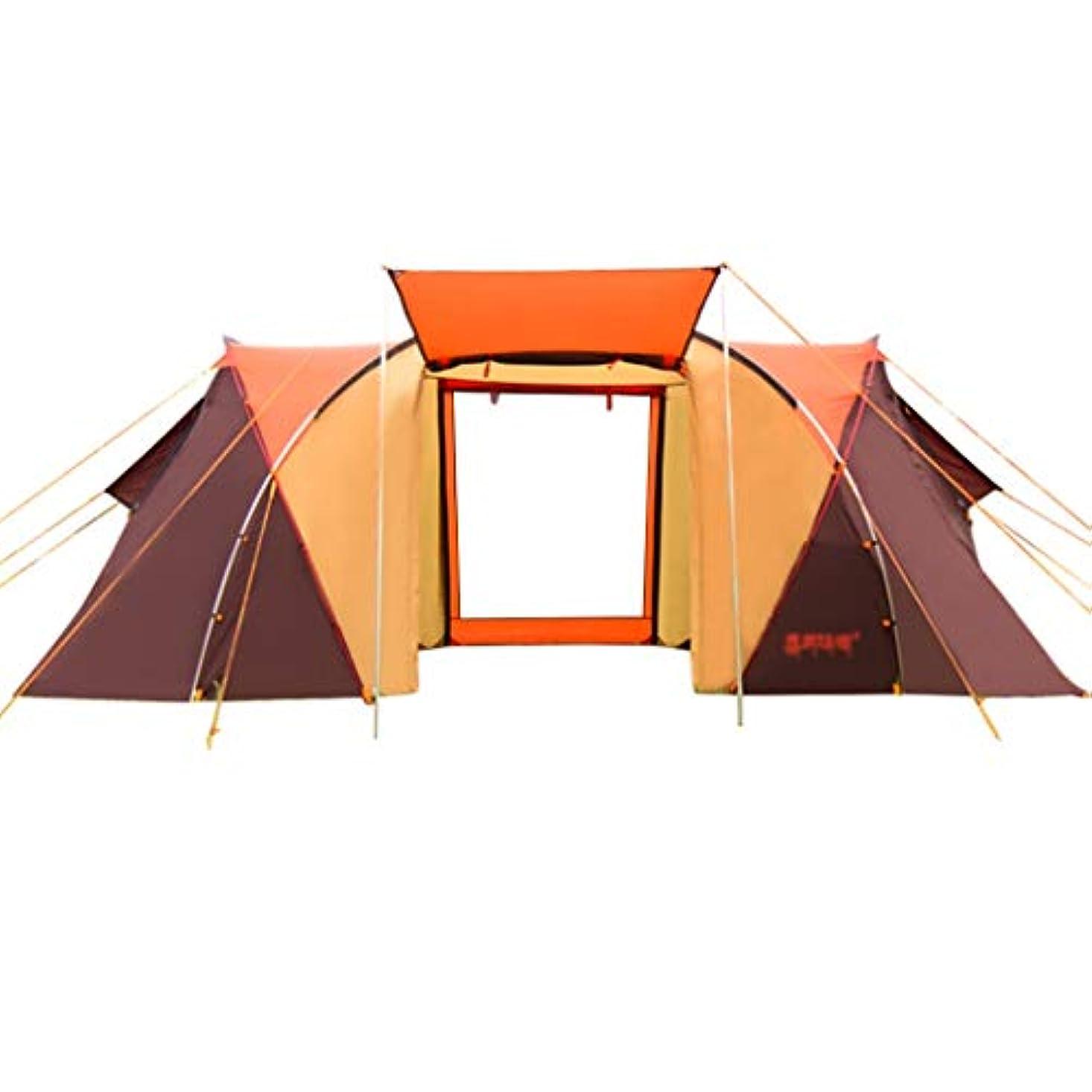 ビット機密散文テント?タープ/テント テントウルトラライトトンネルテントキャンプ屋外テント品質キャンプキャンプテント4-6人2部屋1ベッドルームファミリーテント (Color : Orange, Size : 480*230*195/175cm)