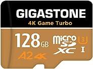 【5年データ回復保証】【Nintendo Switch対応】 Gigastone マイクロSDカード 128GB Micro SD Card, 4K Game Turbo, Switch SDカード 128 A2規格 1