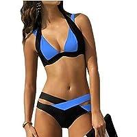 Gaorui Women's Summer Sexy Retro Multicolor Push-Up Bikini Set Swimsuit Swimwear Beach