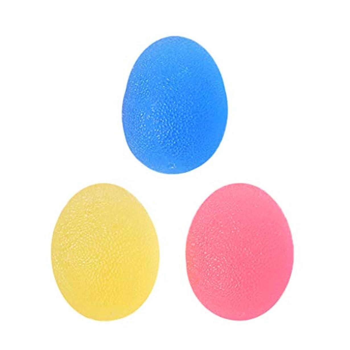 サンプル興奮有益FLAMEER 3個 ハンド スクイズボール エクササイザボール 指 手のひら 運動 グリップ