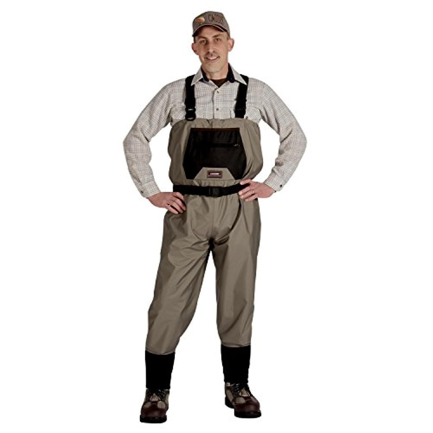 時間厳守トンネル定期的なCaddis Men's Breathable Stockingfoot Waders - Xlarge Tan [並行輸入品]