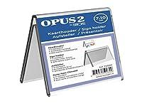 OPUS 2 7 x 10 cm テント型 クリスタルクリア アクリル 両面 サインホルダー