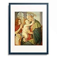 サンドロ・ボッティチェッリ Sandro Botticelli 「Madonna mit Kind und dem Johannesknaben, 1485–1490.」 額装アート作品