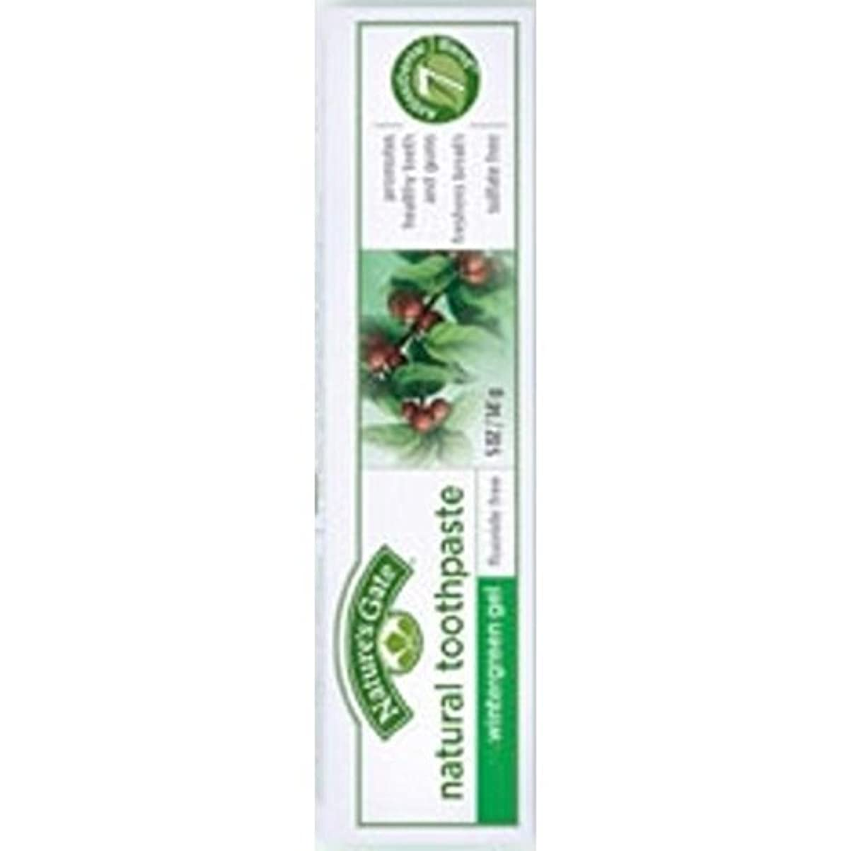 平行誘導有害Nature's Gate Natural Toothpaste Gel Flouride Free Wintergreen - 5 oz - Case of 6 by Nature's Gate [並行輸入品]
