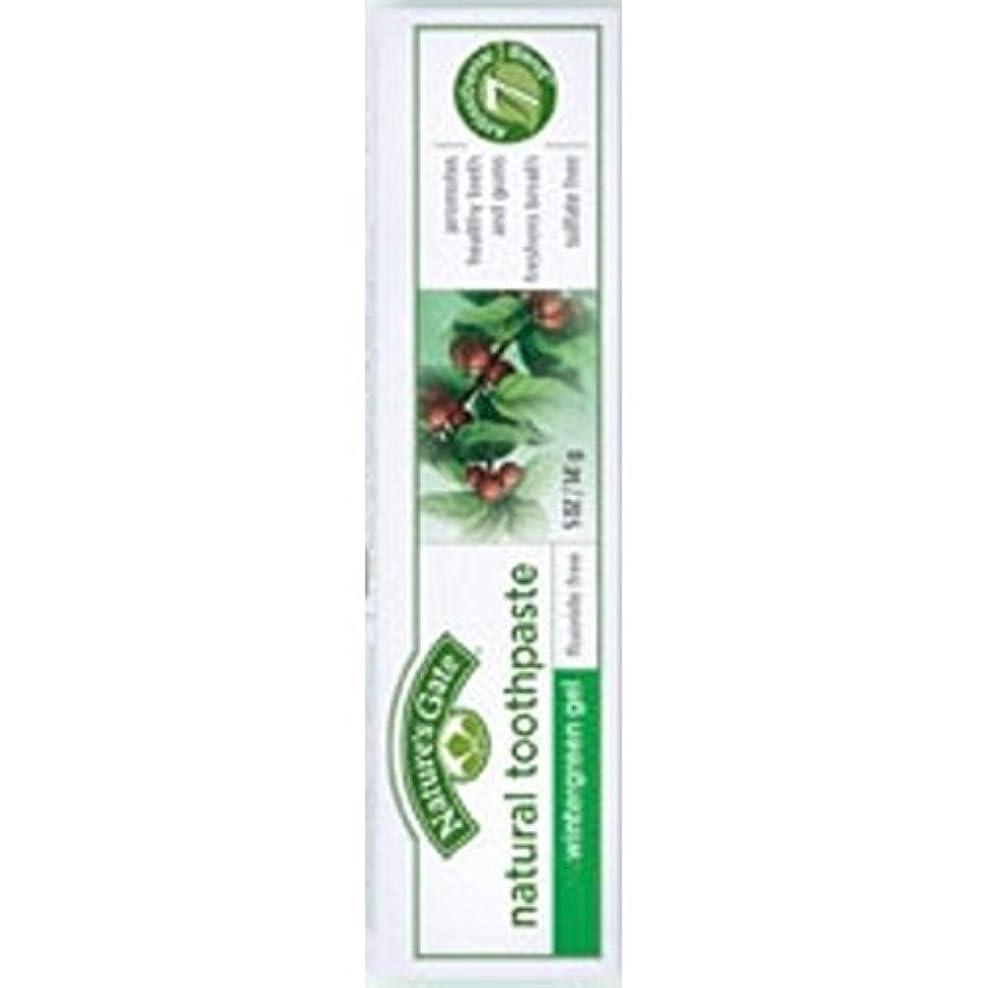 市民ほかに現れるNature's Gate Natural Toothpaste Gel Flouride Free Wintergreen - 5 oz - Case of 6 by Nature's Gate [並行輸入品]