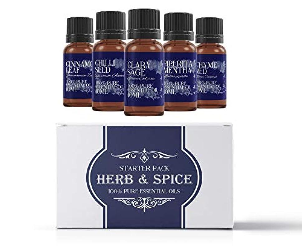 嘆く落ち着く交通Mystic Moments   Essential Oil Starter Pack - Herb & Spice Oils - 5 x 10ml - 100% Pure