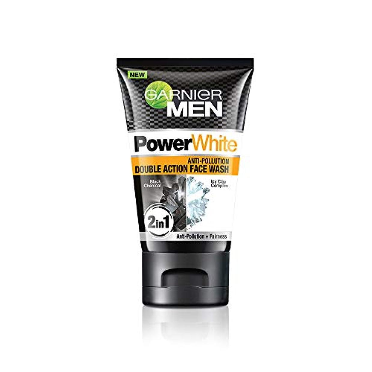 お尻マンモスブラシGarnier Men Power White Anti-Pollution Double Action Facewash, 100gm