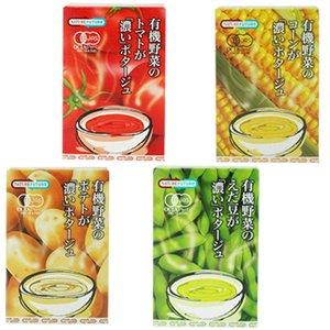 コスモス食品 有機野菜の濃いポタージュシリーズ 4種類16食セット