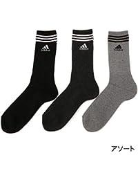 アディダス(メンズレッグウェア)(adidas(Mens Leg Wear)) adidas(アディダス)メンズ 3足組 フット部 総パイル レギュラー丈 ソックス