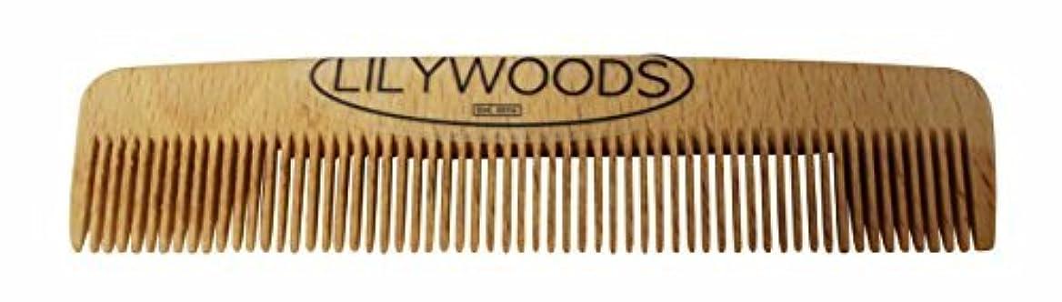 マスタードなめらかLilywoods 13cm Wooden Baby Hair Comb - made of Natural Beechwood - for Infants and Children [並行輸入品]