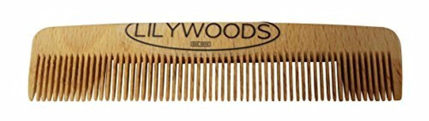 リズミカルな侵入読みやすいLilywoods 13cm Wooden Baby Hair Comb - made of Natural Beechwood - for Infants and Children [並行輸入品]